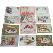 Twenty Seven Antique Christmas Postcards