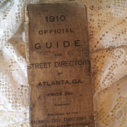 Antique 1910 Official Guide and Directory Book Atlanta Georgia