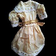 SOLD Sweet Vintage Striped Satin Doll Dress