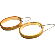 Matched Pair of Gold Filled Victorian Engraved Bangles circa 1890