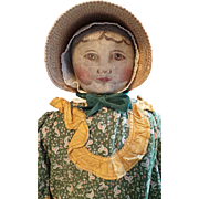 SOLD Lovely Columbian Cloth Doll by Emma Adams
