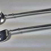 SALE Rare pair of English Canon pattern Silver Servers, London 1929-30, D & J Welby.