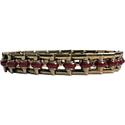 Art Deco 18K Enamel Bracelet, C.1930