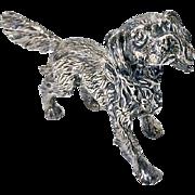 Sterling Silver Spaniel Dog figurine.