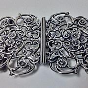 SALE English hallmarked solid silver Nurses buckle, Birmingham 1900