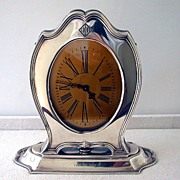 SALE American Art Deco Sterling Clock, Reed & Barton, C.1920