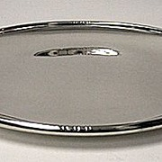SALE Sterling Silver Blossom Tray, probably Denmark C.1930