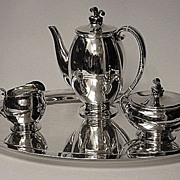 SALE Evald Nielson Sterling Coffee Service Denmark C.1930