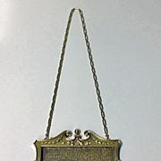 Art Nouveau Gold Diamond  Pearl mesh link purse, C.1910.