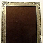 SALE Art Deco Sterling overlay Photo Frame, Smith Metals Art Co , Buffalo C.1920