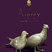 SOLD Pair of Asprey & Co heavy Silver Table Pheasants, London 1989