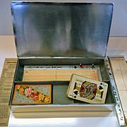 SALE Rare Bridge Box WMF Art Deco Silver plate, Germany C.1920.