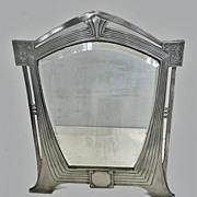SOLD Rare WMF Art Nouveau Jugendstil Secessionist large pewter Mirror, Germany C.1905