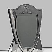 SALE WMF Art Nouveau Jugendstil Secessionist large silver plate Mirror, Germany, C.1900