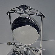 SOLD W.M.F Art Nouveau Secessionist Jugendstil Silver Plate Table Gong Bell, Germany C.1900 W.