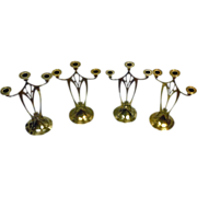 SOLD Set of 4 WMF Jugendstil Secessionist Art Nouveau Candelabra, Germany C.1900.