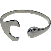 SOLD George Jensen Hans Hansen sterling bangle Denmark, 20th century