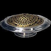 SOLD Gorham American Sterling Flower Frog Dish Bowl, 1893.