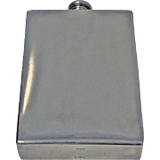 Rare Sterling and Leather Prohibition Document Case with large Sterling Flask, American C1930