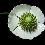 SALE Vintage Enamel Flower Brooch/Pin Signed Original by Robert