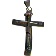 SALE Modern Cross Jesus on Sterling Silver 925 Vintage Taxco Mexico Signed