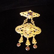 Unusual Art Nouveau Brooch, 950 Silver