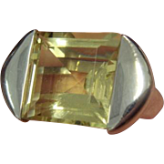 SALE Funky Lemon Quartz Ring in Sterling Silver