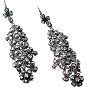 Georgian Foil Back Diamond Earrings - Silver and Gold, 18h Century