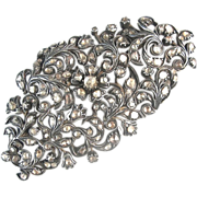 Exceptional 18th Century Georgian - Foil Back Diamond Brooch - Silver - Gold