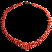 Victorian Sciacca Coral Necklace - 9 Carat