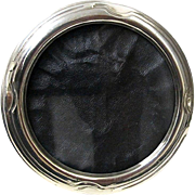 Round Sterling Silver Picture Frame - Circa 1930's