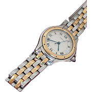 CARTIER Cougar Wristwatch, 18K and Stainless Steel