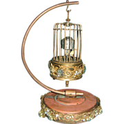 SOLD Kaiser Bird Cage Clock with Stand - Germany, Jeweled