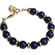 Lapis lazuli Bracelet Earrings Pendant Necklace Set