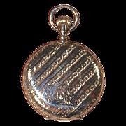 1895 ELGIN 7-Jewel Pocket Watch -  Lady's Fancy 14K GF Hunter Case