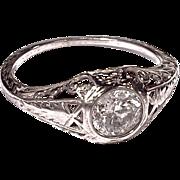 DIAMOND RING - Platinum Filigree
