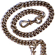 FRENCH  Late 18th Century Heavy Sterling Albert Watch Chain