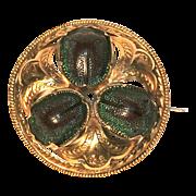 Scarab Beetle Brooch - 18 Karat Gold