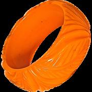 Carved Chunky Butterscotch Bracelet/Bangle