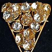 VOGUE - Three-Dimensional Aurora Iridescent  Brooch Pin - Signed