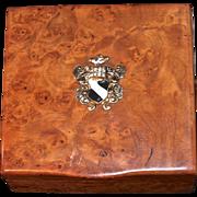 RUSSIAN ROMANOV  Era Karelian Beechwood Burl Cigarette Box - Dovetail Seamless Hidden Hinge -