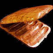 Russian Karelian Beechwood Burl Cigar Case/Box - Dovetail Seamless Hidden Hinge - Edwardian Er