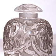 "SOLD R. LALIQUE - 1920  ""Epines"" (Thorns) Perfume/Ink Pot"