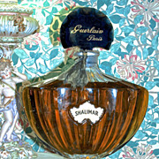SHALIMAR FACTICE by Guerlain Paris - Giant Baccarat Perfume Display Bottle - RARE