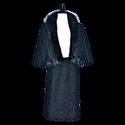 THORP FURS Black Ribbon - Mink Trim 2pc Suit