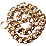 SOLD Victorian 9ct Rose Gold Roller Ball Albert Chain Bracelet