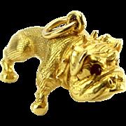 Vintage 9ct Gold Charm BRITISH BULLDOG 1974 Georg Jensen London Stamp