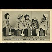 SOLD Vintage 1938 Postcard No. 13 of the Dionne Quintuplets at Callander, Ontario, Canada