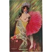 SALE H.H. Tammen 1907 Postcard of Dancer - La Fauvette by Bryson