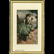 Raphael Tuck Framed Gem Postcard of Actress Jean Aylwin